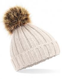 Infant Faux Fur Pom Pom Chunky Beanie